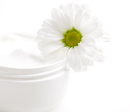 Moisturizer with flower Royalty Free Stock Photography