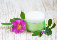 Moisturizer and rose Stock Image