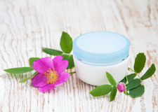 Moisturizer and rose Stock Photo