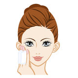 Moisturizer Skin Care -Facial Close-up. 