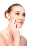 Moisturizing facial beauty skincare treatment Royalty Free Stock Photography