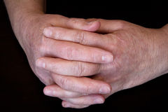 Moisturizing hands Stock Photos