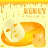 Moisturizing honey mask Stock Photo