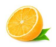 Moitié d'orange Image stock