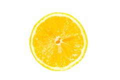 Moitié d'un citron Photos stock