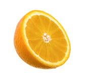 Moitié d'une orange Photo stock