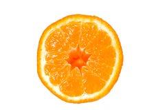 Moitié d'une orange photographie stock