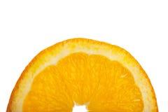 Moitié d'une part orange Image stock