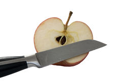 Moitié d'une pomme Photos libres de droits