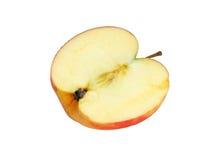 Moitié d'une pomme Photographie stock libre de droits
