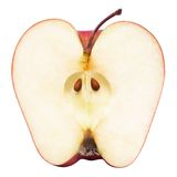 Moitié d'une pomme rouge Images stock