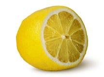 Moitié de citron juteux photo stock