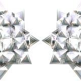 Moitié de l'étoile argentée Image stock