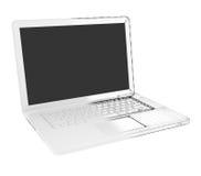 Moitié de l'ordinateur portable - fil-cadre Images stock