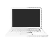 Moitié de l'ordinateur portable - fil-cadre Photo libre de droits