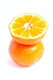 Moitié de mandarine Photos stock