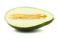 Moitié de melon de piel de sapo Photo stock