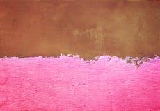 Moitié de mur en béton peint Photographie stock
