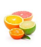 Moitié des fruits Photos libres de droits