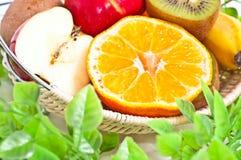 Moitié des fruits Photographie stock libre de droits