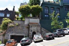 Moitié historique du ` s de San Francisco d'une maison photos libres de droits