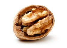 Moitié par morceau de noix Image libre de droits