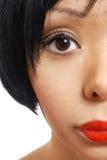 Moitié-visage Photographie stock libre de droits
