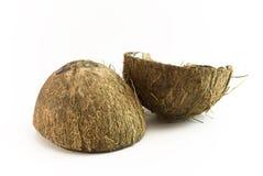 Moitiés de noix de Cocos Photo libre de droits