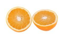 Moitiés oranges juteuses et savoureuses Photographie stock libre de droits