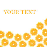 Moitiés oranges sur un fond blanc sous forme de folny Photo libre de droits