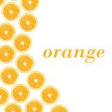 Moitiés oranges sur un fond blanc sous forme de folny et de station thermale Photos libres de droits