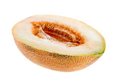 Moitié d'un melon Photos stock