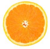à moitié orange Image libre de droits