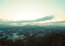 At Moiwayama. Mountain in Hokkaido Royalty Free Stock Image