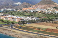 Mojácar coast, Murcia, Spain. Mojácar is a municipality situated in the south east of the Province of Almería (Andalucia) in southern Spain, bordering Stock Image