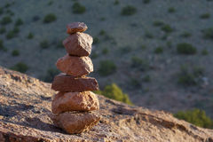 Mojón de piedra Foto de archivo libre de regalías