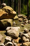 Mojón de piedra Imagen de archivo libre de regalías