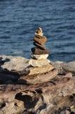 Mojón de piedras rugosas Imagen de archivo libre de regalías