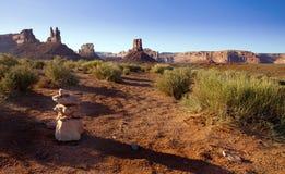 Mojón del desierto Fotos de archivo libres de regalías