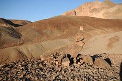 Mojón en Death Valley Imagenes de archivo