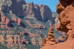 Mojón en Sedona, Arizona Imagen de archivo libre de regalías