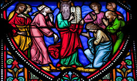 Mojżesz i Przykazanie Dziesięć Fotografia Royalty Free