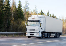 moja droga puste ciężarówki white Obrazy Stock