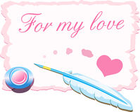 moja miłość karty ilustracji