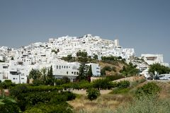 Mojacar白色村庄在阿尔梅里雅 免版税库存照片