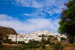 Mojacar in Almeria village skyline in Spain Stock Photos