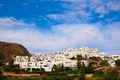Mojacar in Almeria village skyline in Spain Stock Image