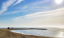 Взгляд Средиземного моря на Mojacar Playa Стоковое Изображение RF