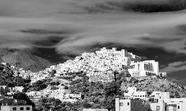 Mojacar Village in Black and White Stock Photos