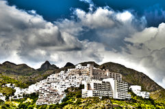 Mojacar Village in HDR Royalty Free Stock Photography